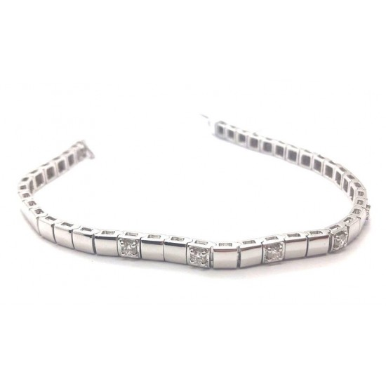 0.50ct 18ct White Gold Tennis Bracelet