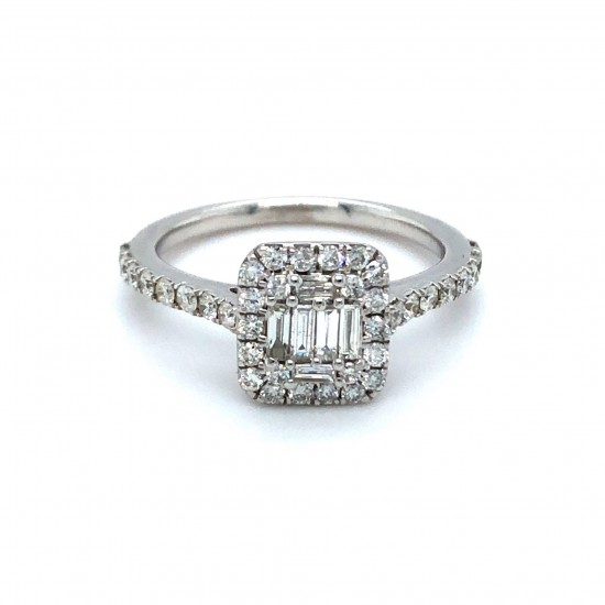 9ct White Gold 0.59ct Diamonds Ring