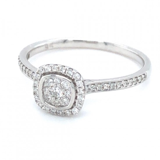 18ct White Gold 0.22ct Diamonds Ring