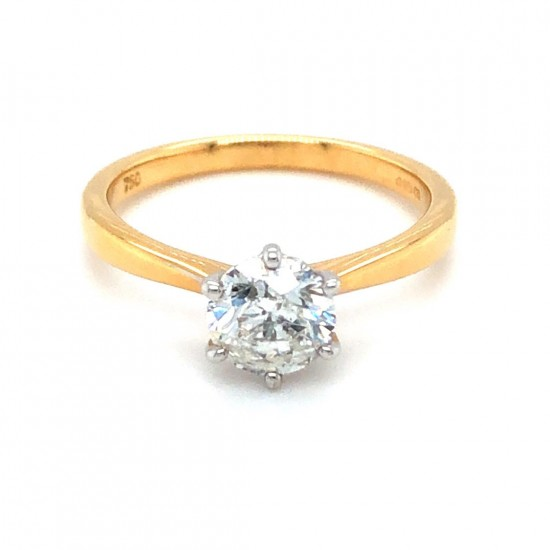 0.92ct 18ct Yellow Gold Diamond Ring
