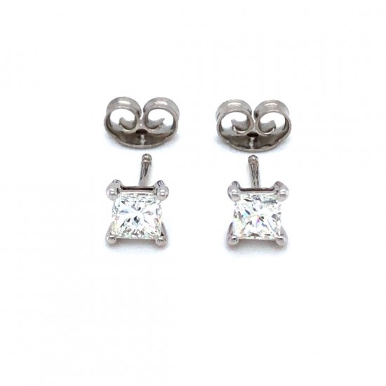 0.64ct 18ct White Gold Stud Earrings