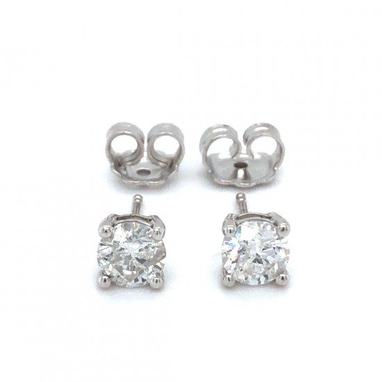 1.22ct 18ct White Gold Stud Earrings