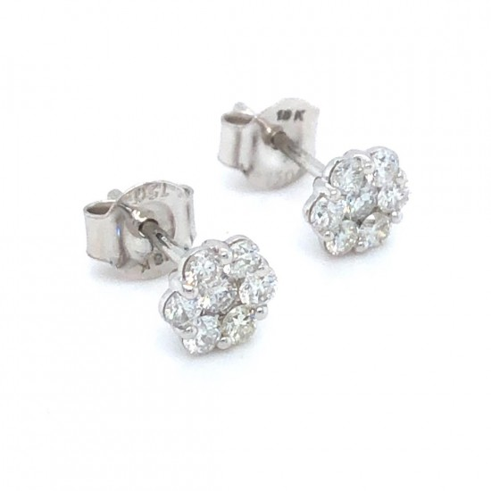 0.50ct 18ct White Gold Stud Earrings