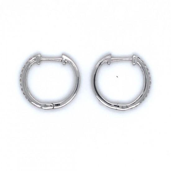 0.15ct 9ct White Gold Hoop Earrings