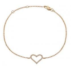 0.10ct 18ct Rose Gold Fancy Bracelet