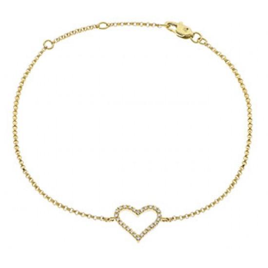 0.10ct 18ct Yellow Gold Fancy Bracelet
