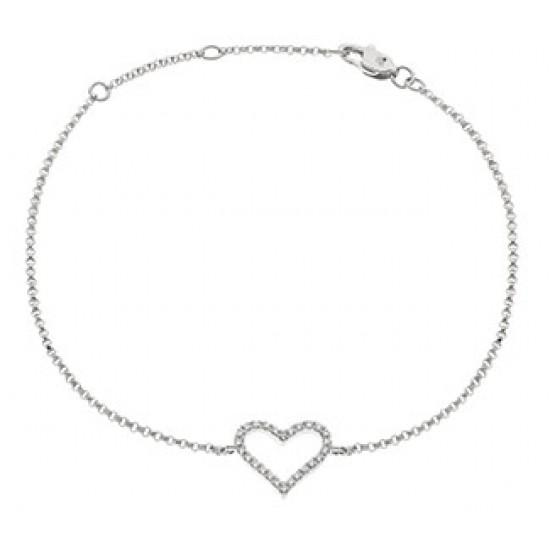 0.10ct 18ct White Gold Fancy Bracelet