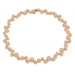 1.40ct 18ct Rose Gold Tennis Bracelet