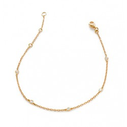 0.12ct 18ct Rose Gold Fancy Bracelet
