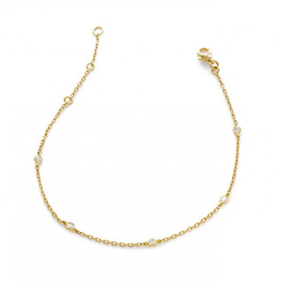 0.12ct 18ct Yellow Gold Fancy Bracelet