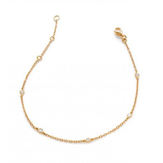 0.20ct 18ct Rose Gold Fancy Bracelet