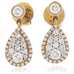 0.60ct 18ct Rose Gold Drop Earrings