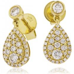 0.60ct 18ct Yellow Gold Drop Earrings