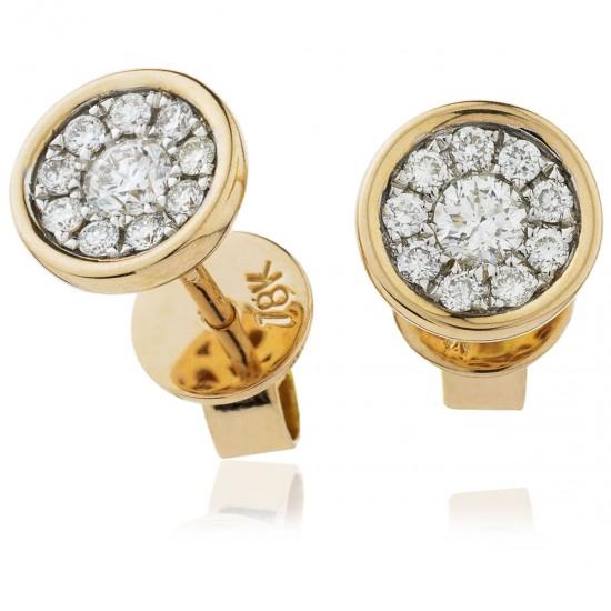 0.30ct 18ct Rose Gold Stud Earrings