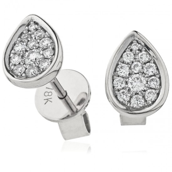 0.20ct 18ct White Gold Stud Earrings