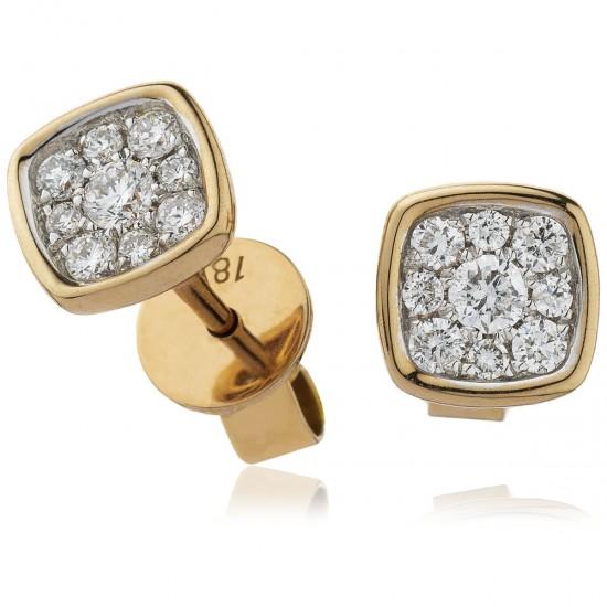 0.25ct 18ct Rose Gold Stud Earrings