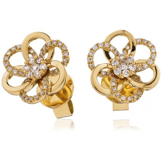 0.20ct 18ct Rose Gold Stud Earrings