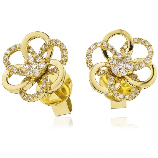 0.20ct 18ct Yellow Gold Stud Earrings