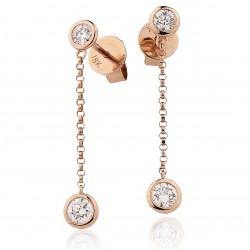 0.55ct 18ct Rose Gold Drop Earrings
