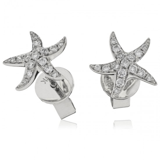 0.18ct 18ct White Gold Stud Earrings