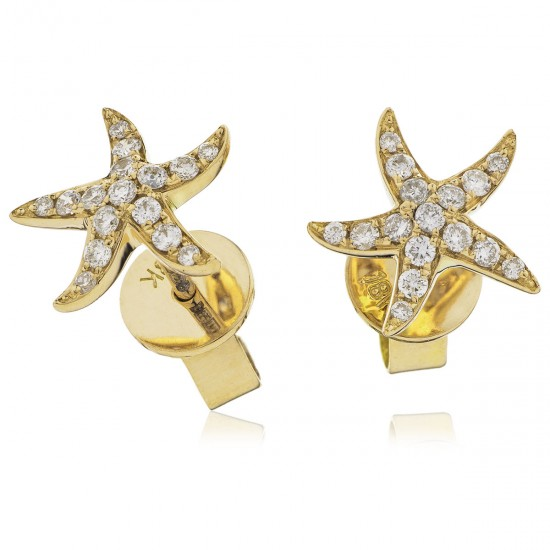 0.18ct 18ct Yellow Gold Stud Earrings