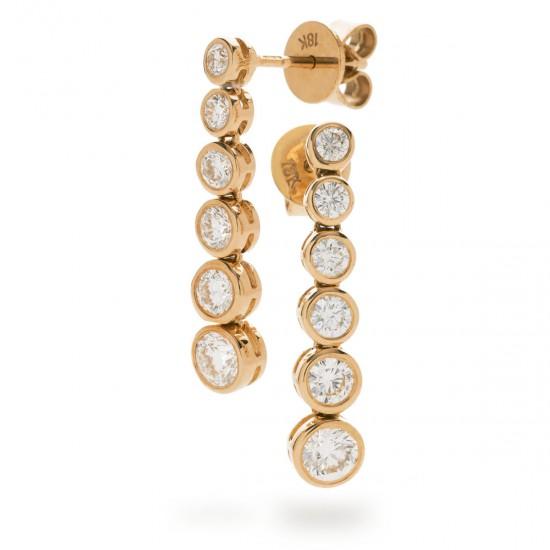 0.80ct 18ct Rose Gold Drop Earrings