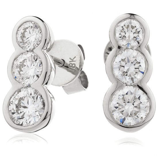 0.60ct 18ct White Gold Drop Earrings