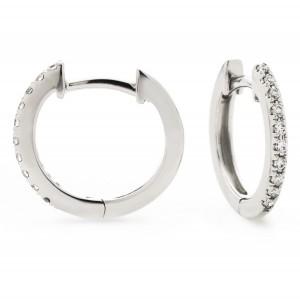 0.06ct 18ct White Gold Hoop Earrings