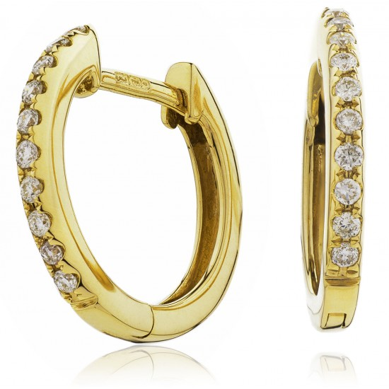 0.06ct 18ct Yellow Gold Hoop Earrings