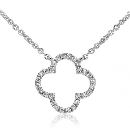 0.10ct 18ct White Gold Drop Pendant