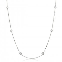 0.45ct 18ct White Gold Tennis Necklace
