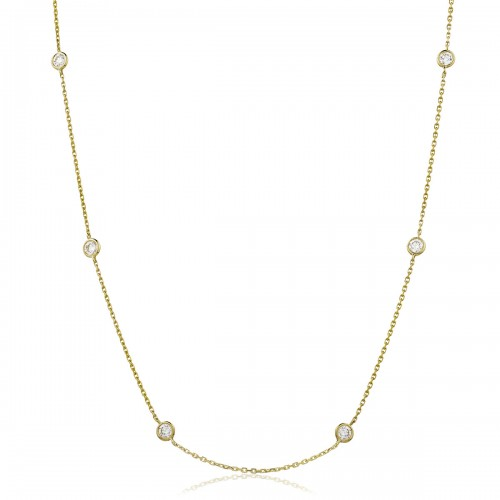 0.25ct 18ct Yellow Gold Tennis Necklace