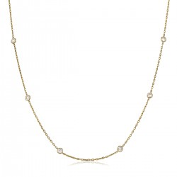 0.32ct 18ct Rose Gold Tennis Necklace