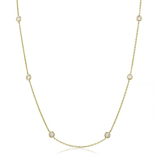 0.50ct 18ct Yellow Gold Tennis Necklace