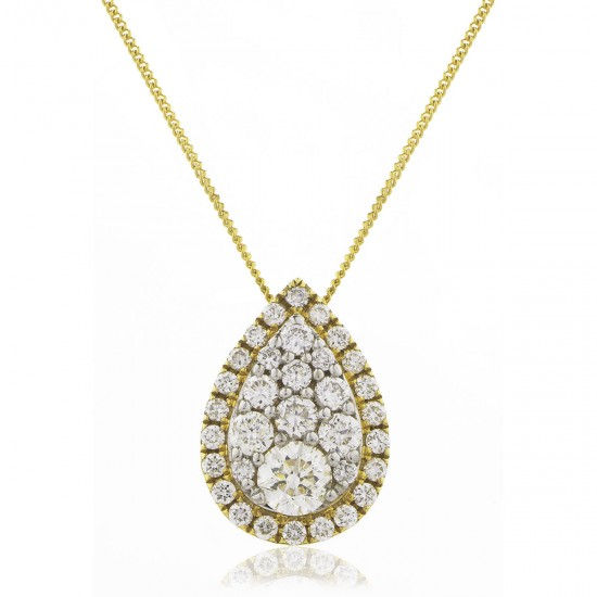 0.25ct 18ct Yellow Gold Cluster Pendant
