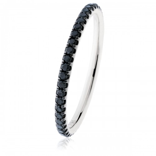 0.35ct 18ct White Gold Gemstone Ring