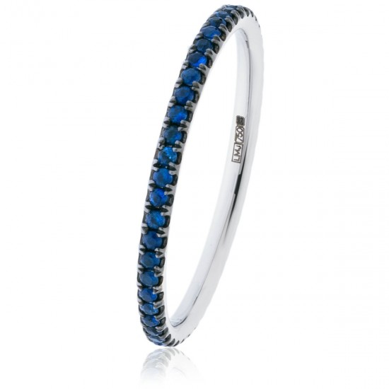 0.30ct 18ct White Gold Blue Sapphire Ring