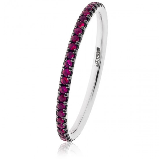 0.30ct 18ct White Gold Ruby Ring