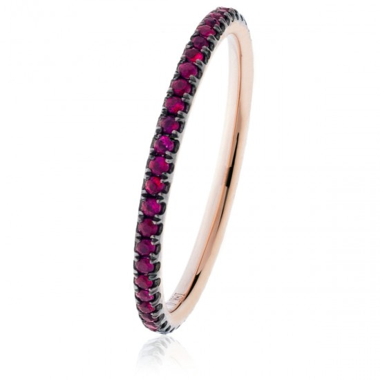 0.30ct 18ct Rose Gold Ruby Ring