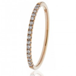 0.15ct 18ct Rose Gold Half Eternity Ring