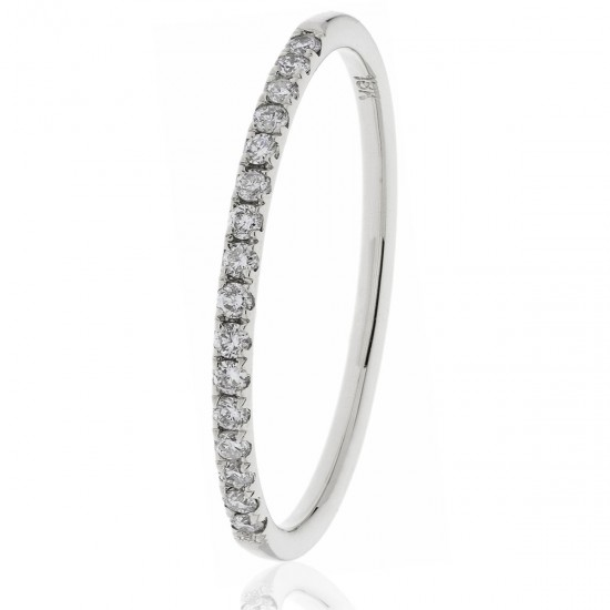 0.15ct 18ct White Gold Half Eternity Ring