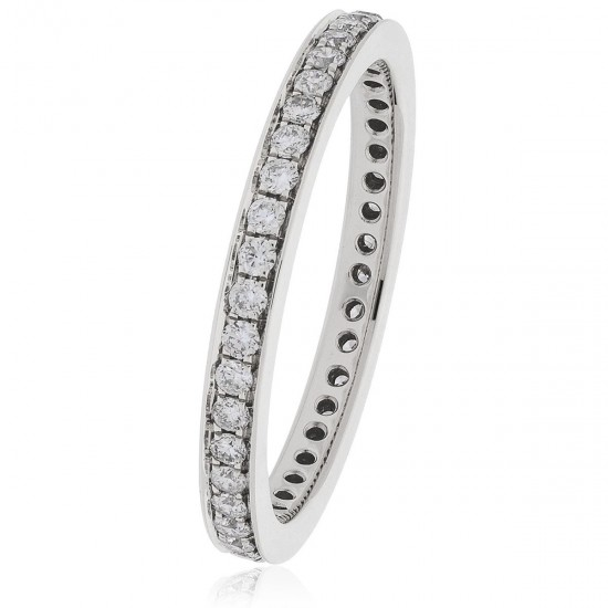 0.50ct 18ct White Gold Full Eternity Ring