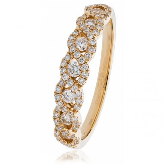 0.50ct 18ct Rose Gold Dress Ring
