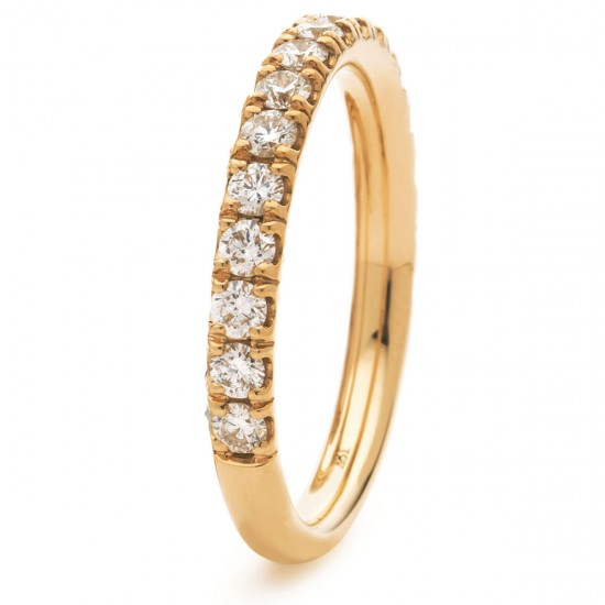 0.17ct 18ct Rose Gold Half Eternity Ring