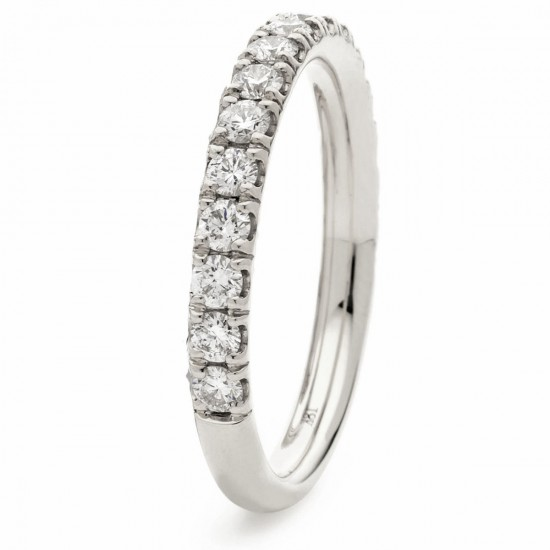 0.17ct 18ct White Gold Half Eternity Ring