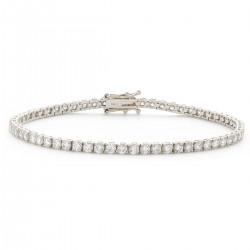1.15ct 9ct  White Gold Tennis Bracelet