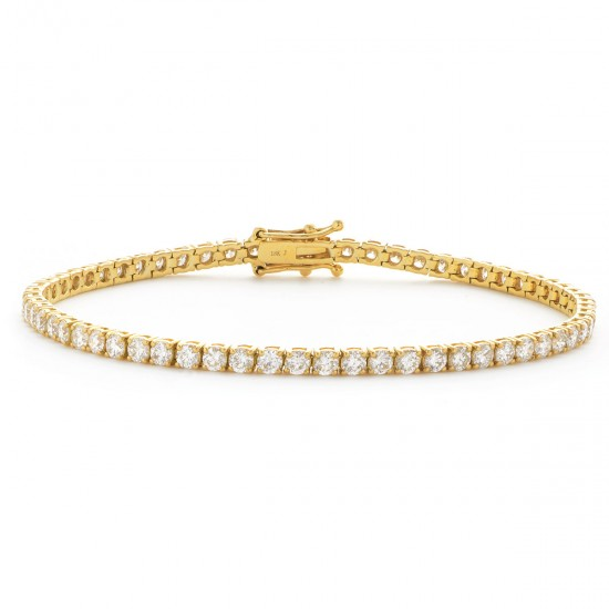 1.15ct 18ct Yellow Gold Tennis Bracelet