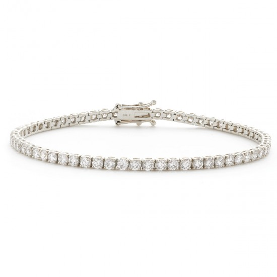 1.33ct 18ct White Gold Tennis Bracelet
