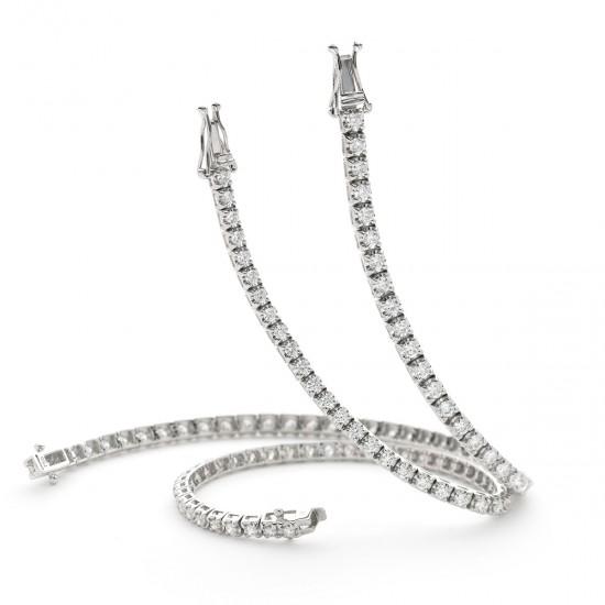 1.25ct 18ct White Gold Tennis Bracelet