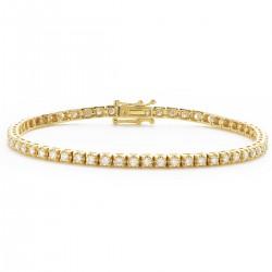 1.25ct 18ct Yellow Gold Tennis Bracelet